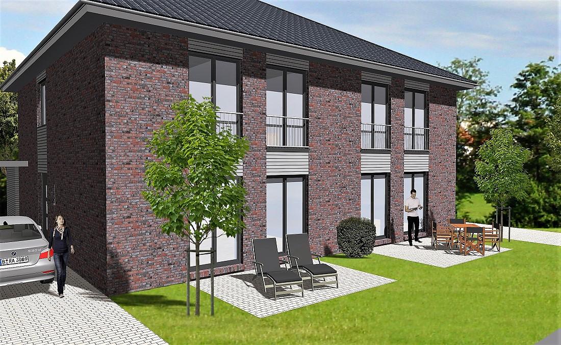 Neubau eines modernen Doppelhauses mit Carport in Oldenburg - Ofenerdiek, Langenweg 192 und 192a