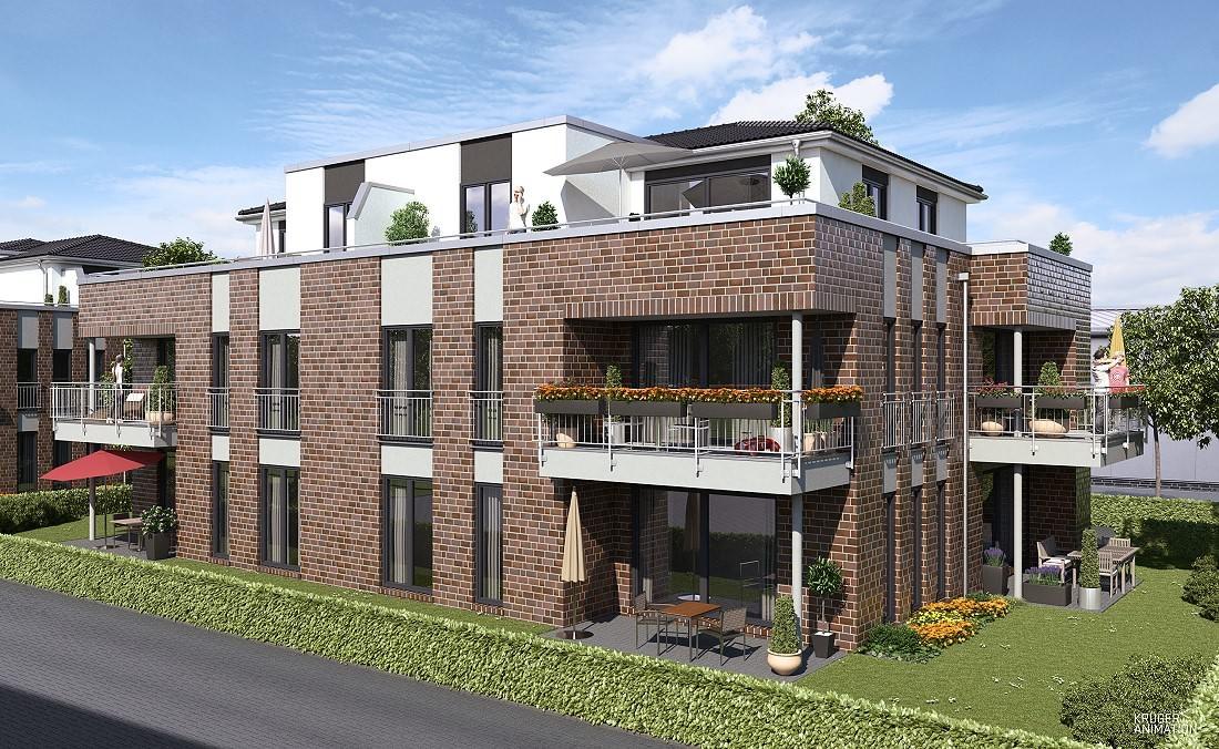 Neubau eines Mehrfamilienhauses mit 10 Eigentumswohnungen in Oldenburg - Eversten, Eichenstraße 80