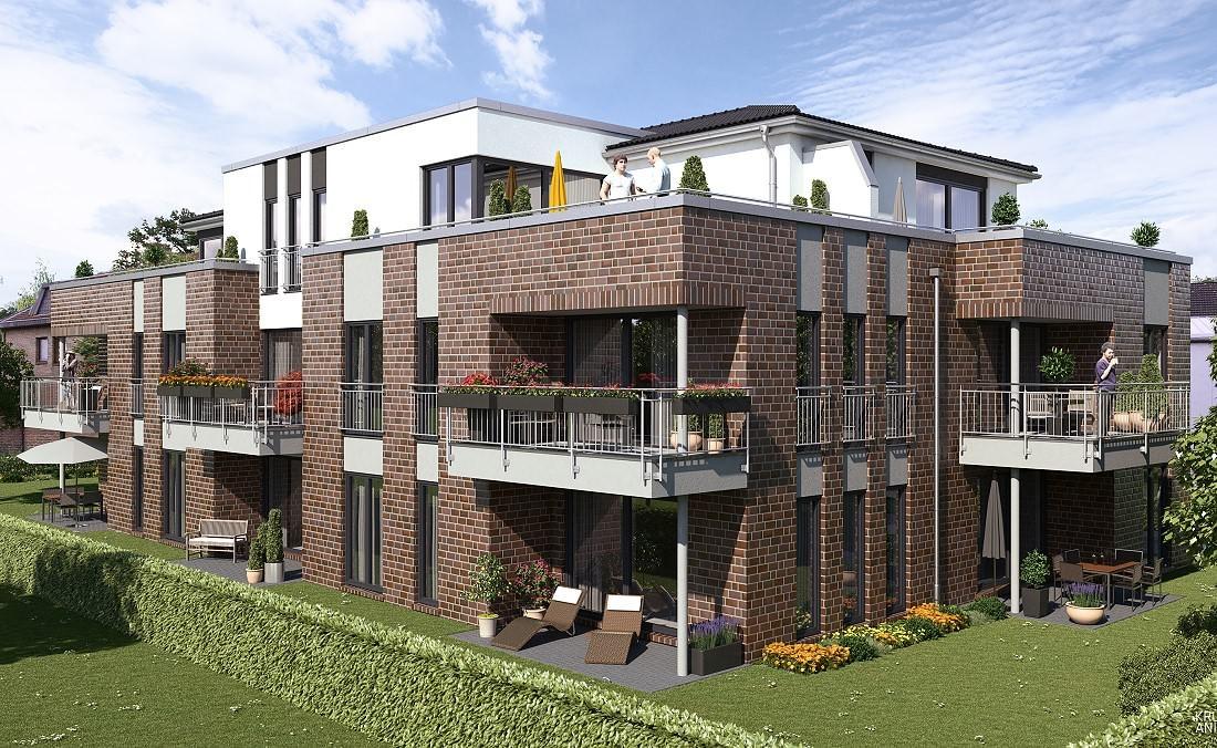 Neubau eines Mehrfamilienhauses mit 13 Eigentumswohnungen in Oldenburg - Eversten, Eichenstraße 82