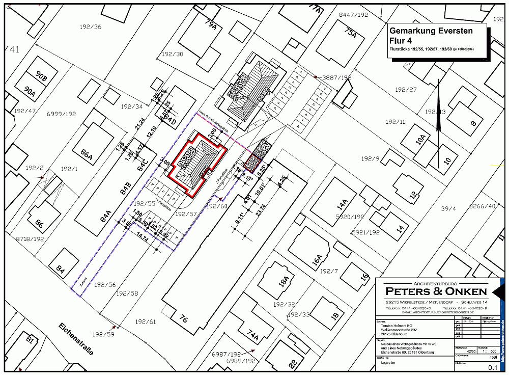 Lageplan Eichenstraße 80