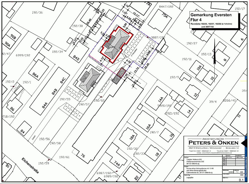 Lageplan Eichenstrasse 82